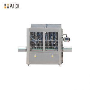 Машина за пълнене с тежест на бутилки за PLC контрол с 10 глави за 1 - 5L почистващ препарат за избелване