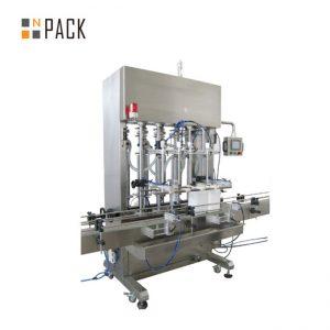 500ml-5L автоматична машина за пълнене с 6 глави със серво система за крем с управление на PLC конвейер