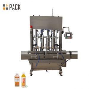 Широка гама за пълнене с машина за пълнене с 10 глави за течности с ниска / висока вискозитет