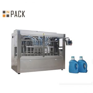 Автоматична машина за пълнене с течен детергент, линия за пълнене на течен сапун с бутален пълнител