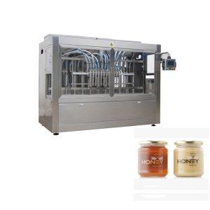 PLC Control 8 дюзи машина за пълнене на паста, машина за пълнене със стъклен съд от 400G