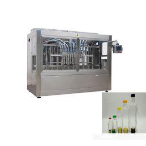 Линия за пълнене на бутилка с машина за поставяне на бутилка и машина за двойно странично етикетиране
