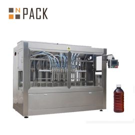 Полуавтоматична машина за пълнене с течност / гравитация на бутилката за време за пестициди