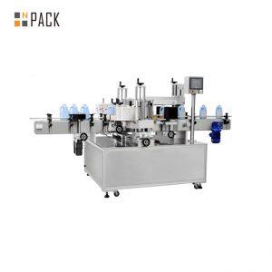 Самозалепваща се автоматична машина за етикетиране на бутилка за етикети на преден и заден панел