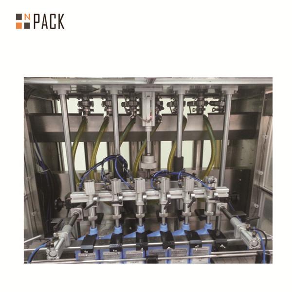 Автоматична машина за бутилиране с 6 глави стъклена бутилка козметичен крем с течно масло
