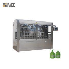 16 дюзи бутална машина с висока вискозитет за пълнене на течности за 100ml-1L течен сапун / лосион
