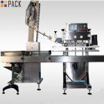 Ротационна машина за капаче за бутилки с висока квалифицирана скорост за 50ml-1L бутилки с пестициди 120 CPM