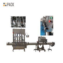 Натиснете натиснете върху автоматичната машина за поставяне на бутилка 8 глави за ядливо масло / талк на прах
